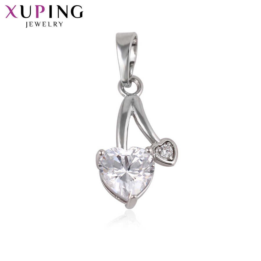 Xuping Fashion Simple Heart Style Pendant High Quality Charm Design Jewelry Plated Christmas Gift S55.1-32857