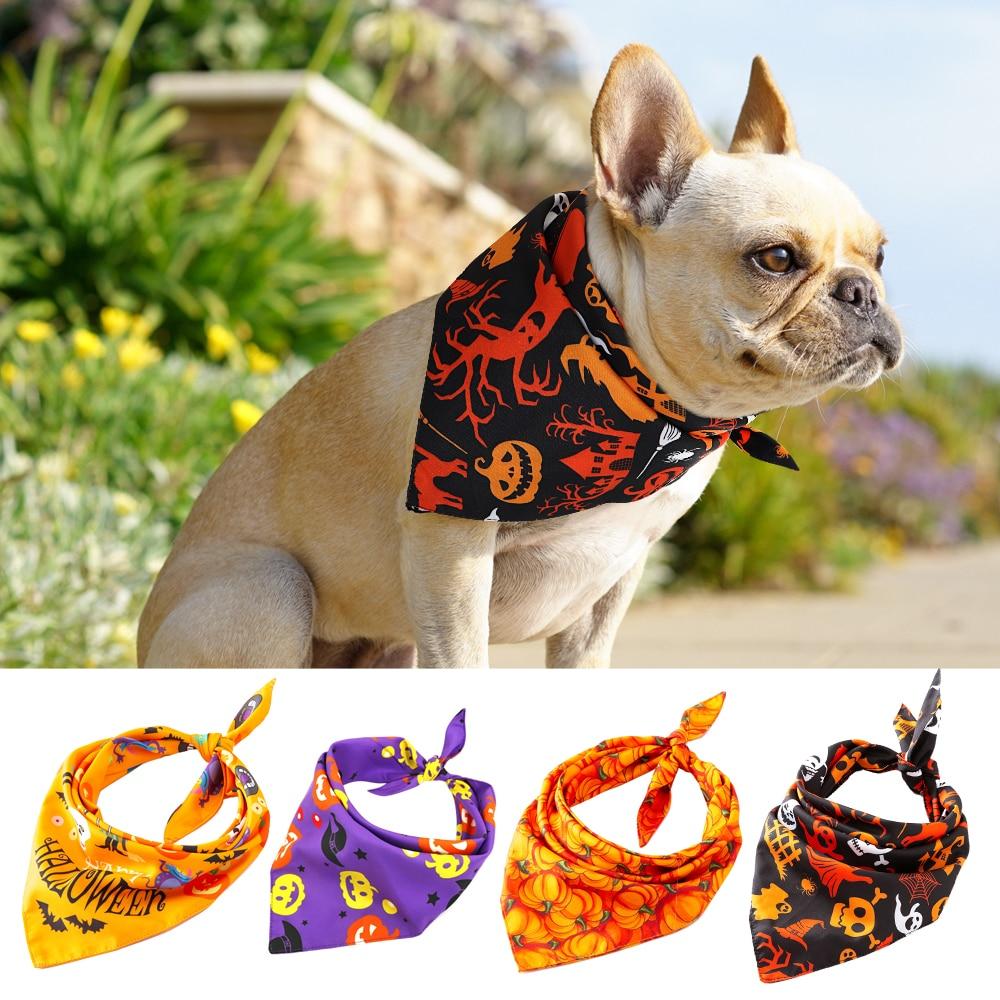 Dog Halloween Collar Bandana Halloween font b Pet b font Neckerchief Scarf Neck Scarf for Medium