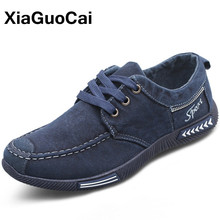 Canvas Men Shoes Big Size Spring Autumn Denim Man Casual Shoes Plimsolls Lace Up Breathable Male Flats Comfortable 2020 Footwear