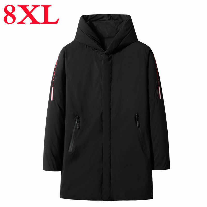 Plus 10XL 8XL 6XL Marke Winter Baumwolle Gepolsterte Jacke Männer Lange Jacke Männer Dicke Pullover Parka Mantel Männlich Wattierte Winter jacke Mantel