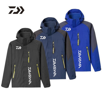 2020 New Outdoor DAIWA Men Women Fishing Clothing Jacket Couple Windbreaker Reflective Fishing Clothes Hiking Camping Clothes