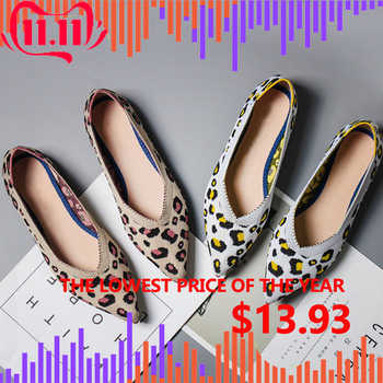 SUOJIALUN 2019 New Spring Women Flats Shoes Leopard Print Women Shoes Casual Single Shoes Ballerina Women Shallow Mouth Shoes - DISCOUNT ITEM  41% OFF All Category