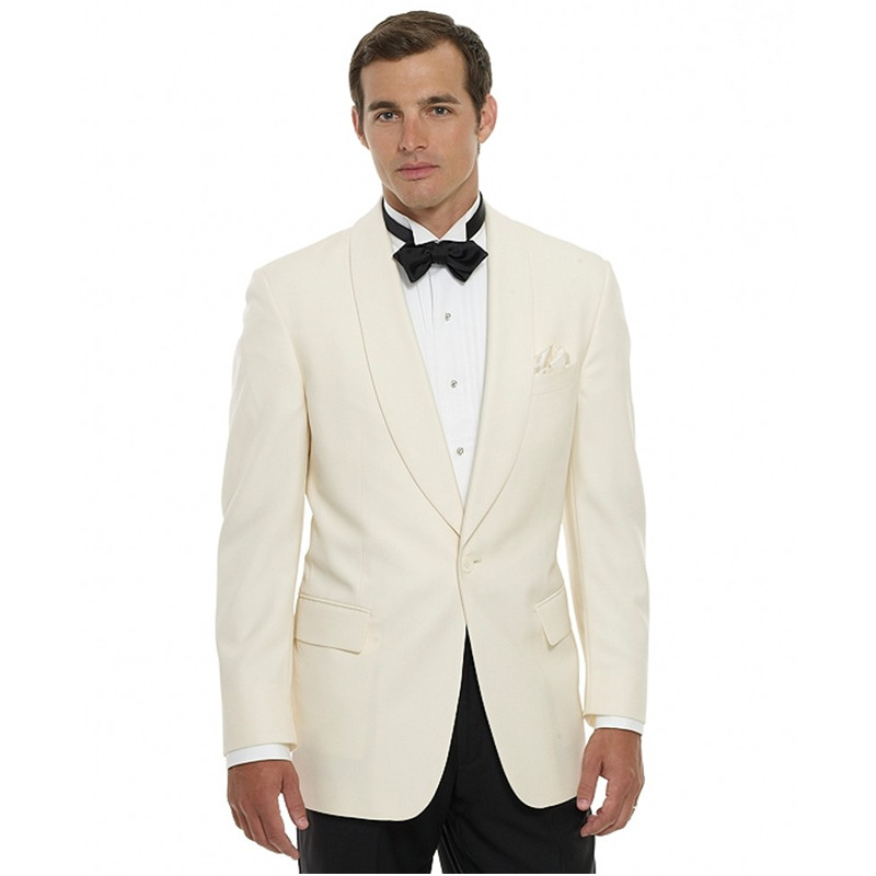 Custom Made New Style Groomsmen Shawl Lapel Groom Tuxedos One Button Men Suits Wedding Best Man (Jacket+Pants)