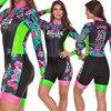 Terno de triathlon profissional, camiseta de ciclismo preta feminina, macacão, manga longa em gel, conjunto de ciclismo, 2019 10