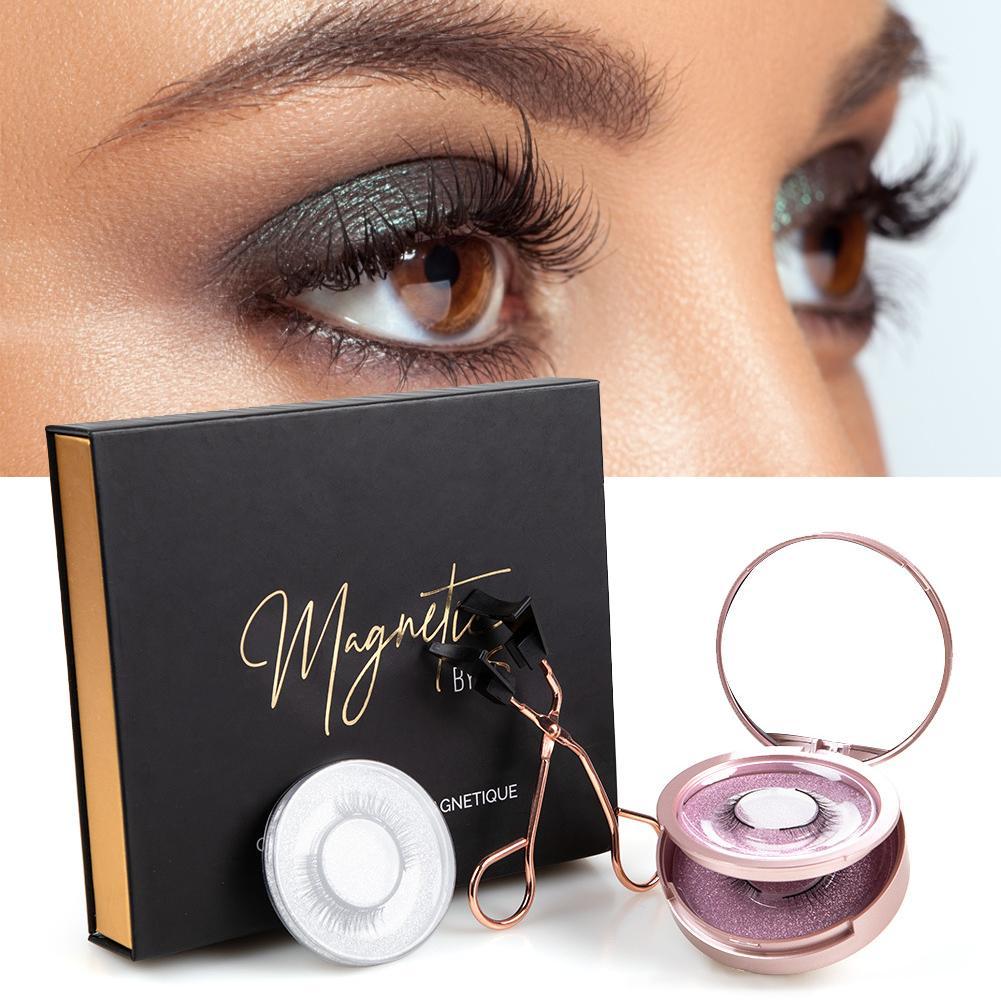 3Pairs/Set Magnetic Eyelashes Applicator Clip No Glue Need Easy Apply Eyelashes Reusable Quantum Soft Magnetic False Eyelash 1