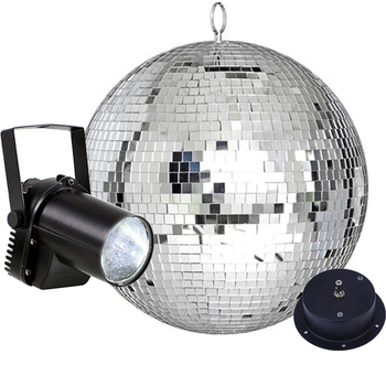 Thrisdar Glass Rotating Disco Mirror Ball With 5W Beam Pinspot Lamps Commercial Holiday Party Disco Ball Stage Effect Light
