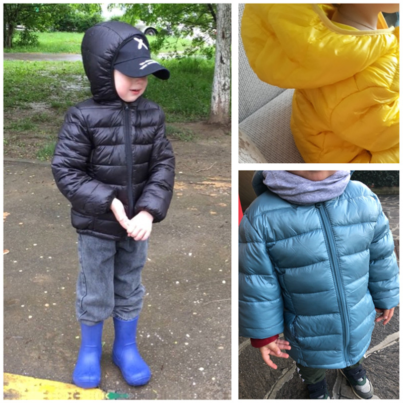 2021 Autumn Winter Hooded Children Down Jackets For Girls Candy Color Warm Kids Down Coats For Boys 2-9 Years Outerwear Clothes 5