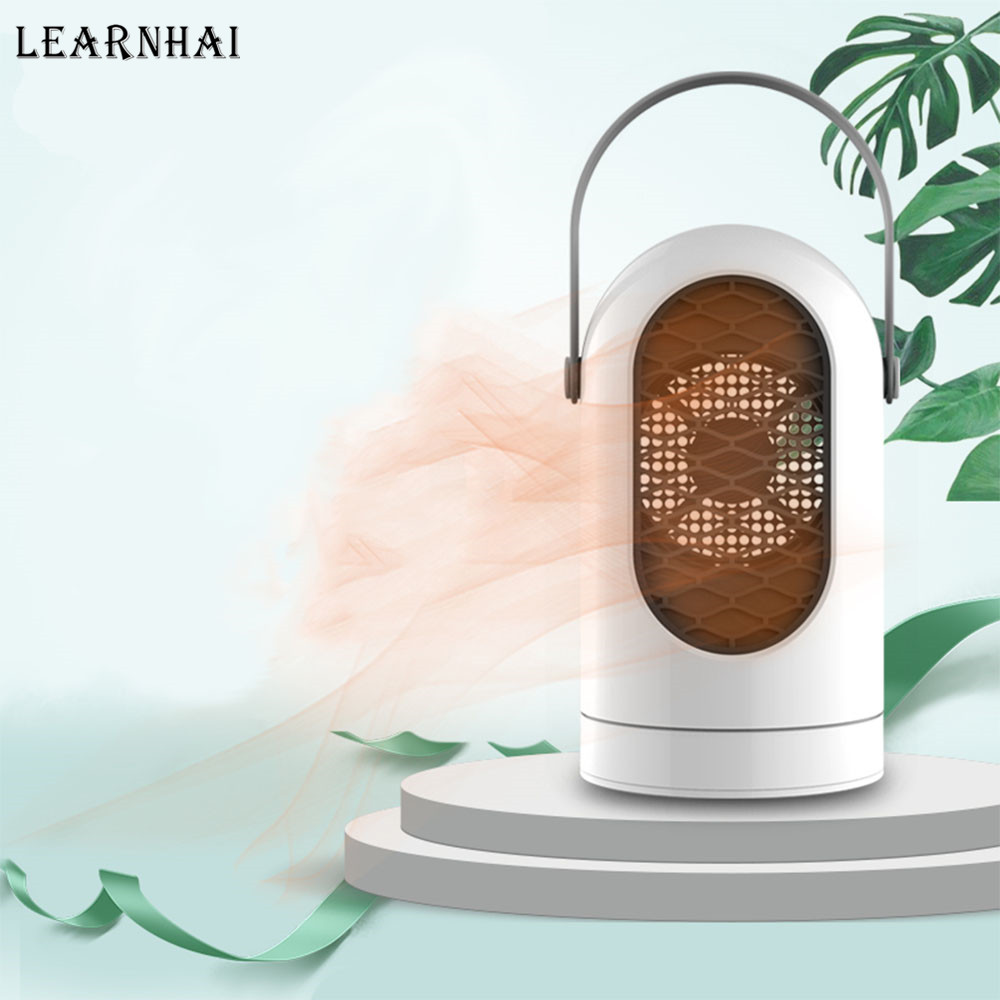 LEARNHAI Christmas Gift 400W Portable Mini Home Space Heater Electric Fan Winter Warmer Desktop Air Conditioner for Home Office