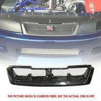 Front Bumper Grill For Nissan R33 Skyline GTR (GTR Only) Exterior Car accessories Body kit OE Style FRP Fiber Unpainted