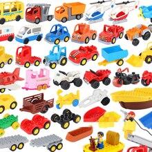 Модель автомобиля детская сборная игрушка Большой конструктор городской трафик Запчасти для автомобиля прицепа шасси лодки мотоцикла сов...