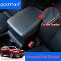 QCBXYYXH Кожаный Автомобильный подлокотник накладки для Mazda CX-5 2017-2018 центральной консоли Авто сиденья Подлокотники коробка колодки подлокотни...
