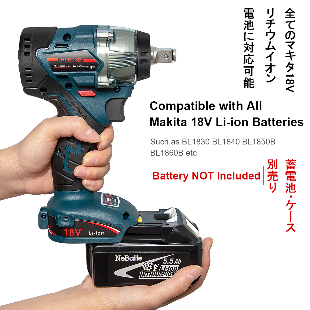 H4cecfda0492646e2ad329df6f2c2274bV - Abeden Brushless Electric Impact Wrench 18V 350 N.m Cordless Screwdriver Speed Rechargable Drill Driver LED Light for makita