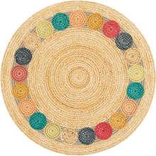 Индийская Мандала Ретро Этническая гостиная круглый ковер детская комната спальня противоскользящие круглые ковры домашний марокканский Пол Ковер двери стул