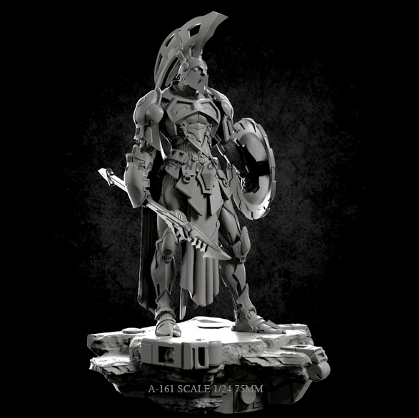 1/24 75mm Resin Figure Kits General Celestial Pole Self-assembled A-161