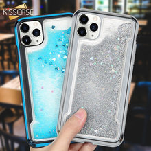 KISSCASE Quicksand Bumper Phone Case For iPhone 11 Cases Glitter Coque For iPhone 8 Cover 7 6 6s X XS XR XS MAX 11PRO 11PRO MAX(China)