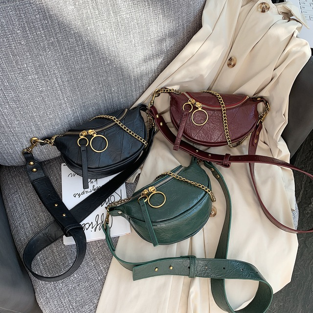 Fashion Quality PU Leather Crossbody Bags For Women 2020 Chain Small Shoulder Messenger Bag Lady Travel Handbags and Purses 4