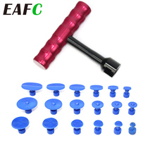 Car Paintless Dent Repair Hail Removal Kit Tool with 18 Pulling Tabs T shape Dent Puller Kit for Auto Body Repair Tool