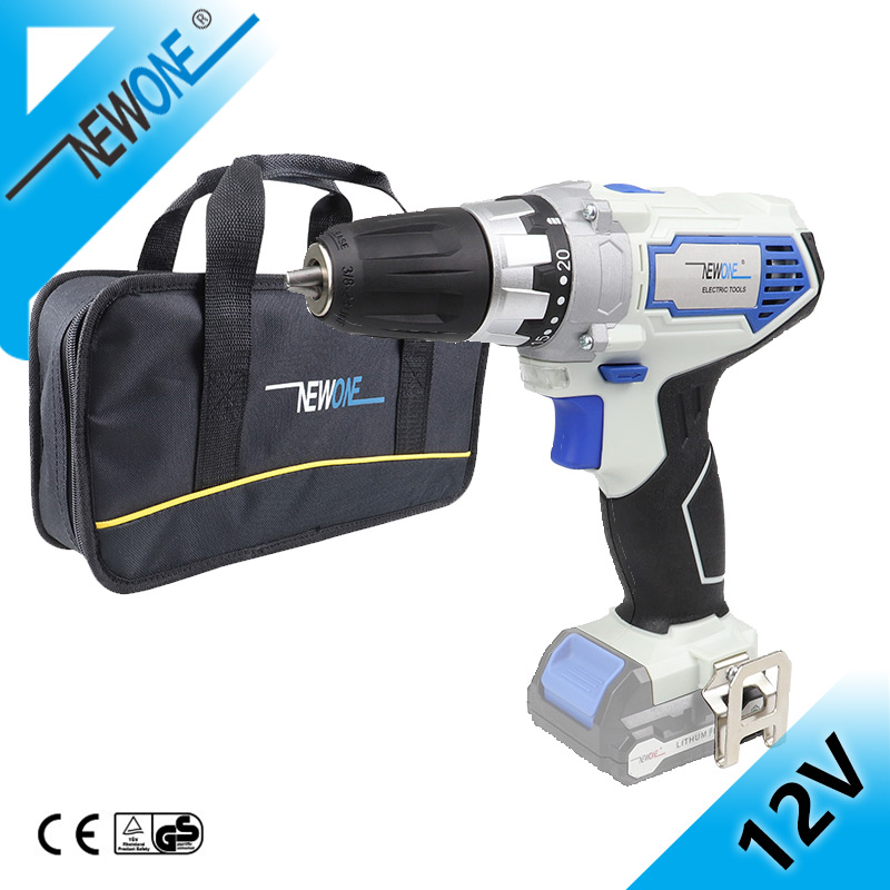 NEWONE 12V Cordless Drill with Angle grinder Electric screwdriver Drill Combo Kit Power Tool