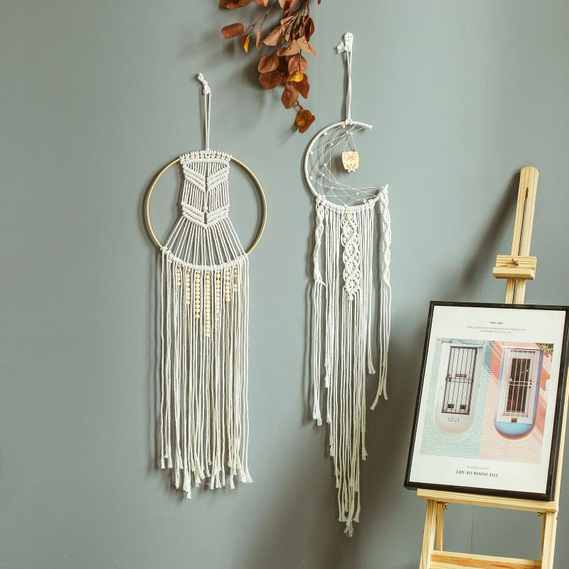 2020 boho macrame room decor Wooden beads dreamcatcher room decoration bead garland wood gift bedroom nursery girls room decor