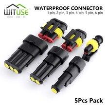 TSLEEN-connecteur de fil électrique | 5 pièces étanche 1/2/3/4/5/6, joint de voie Quad Bike, 12A IP68, connecteur de fil automobile, bornes de connexion pour camion