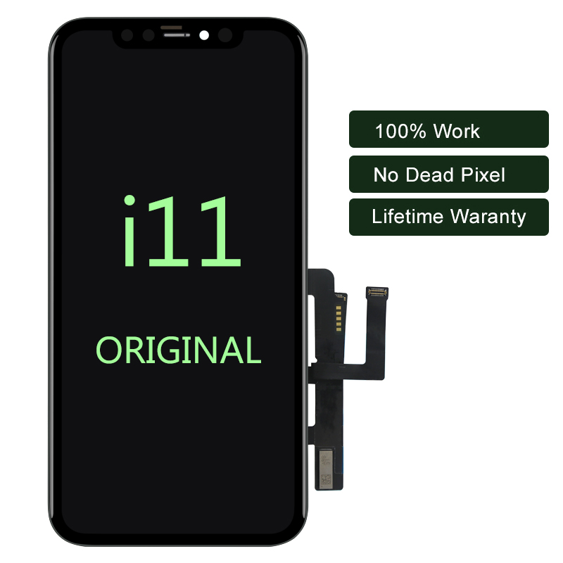 Для iPhone 11 ЖК дисплей для оригинального мобильного телефона экран дигитайзер для iPhone 11 Pro Max ЖК для iPhone X сборка с инструментами