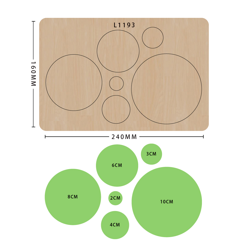 SMVAUON 2021 Circles of Different Sizes Wooden Cutting Dies For Scrapbooking Making Decor Supplies Dies Template 3