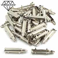 100Pcs Bullet Shape Claws Rivets Sliver Metal Nailheads Rivets Crafts DIY For Punk Leather 7x35mm Studs And Spikes For Clothes