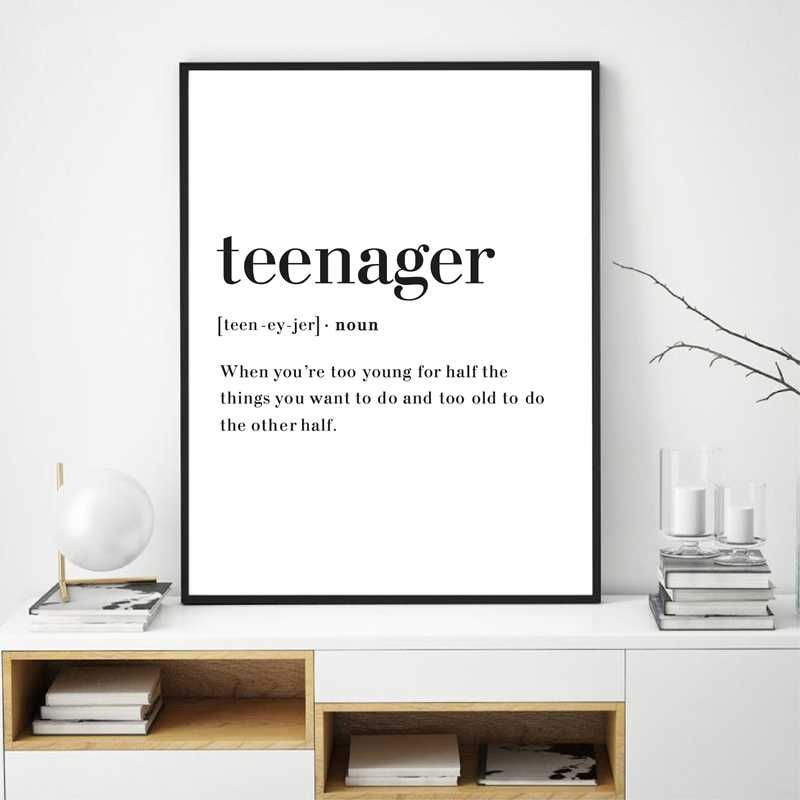 Son Definition Framed Wall Art Quotes Modern Art Print Quote Print Home Décor
