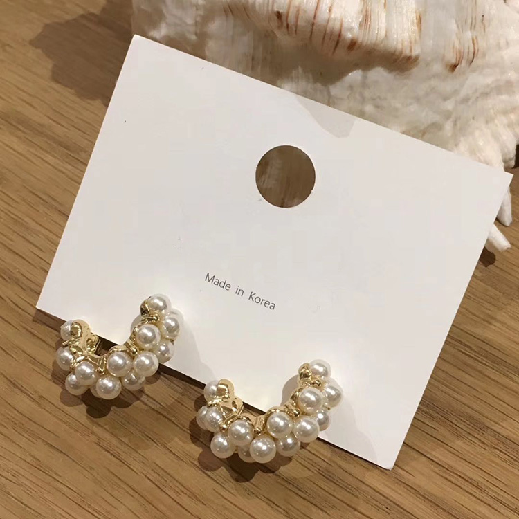 H4cee9420875f4049aa18e9981cf03e731 - MENGJIQIAO 2019 New Vintage Japan Korean Hoop Earrings For Women Handmade Sweet Simulated Pearl Circle Jewelry Pendientes Gifts