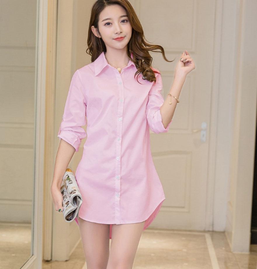 Casual Loose Women Shirts Collar Plus Size Blouse Long Sleeve Buttons White Shirt Women Tops Streetwear 8