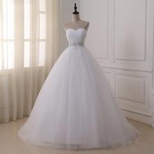 Jiayigong Stock Real Wedding Dresses Vestidos de novia Sweetheart Sweep Train Lace Applique Corset Wedding Dress Robe De Mariage