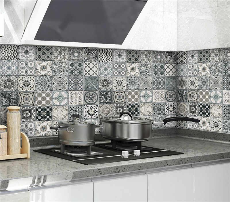 Dapur Stiker Dinding Suhu Tinggi Anti Minyak Paste Wallpaper Dapur Self Adhesive Foil Tahan Air Kamar Mandi Stiker Dinding