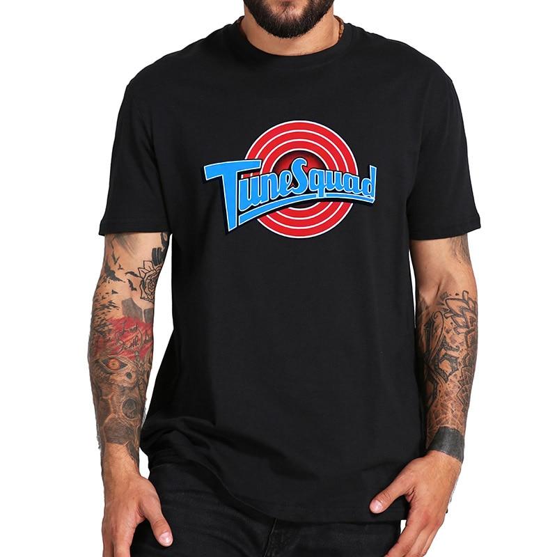 Space Jam T shirt Tune Squad Team Logo Tshirt Comedy Film EU Size Pure Cotton Breathable Vintage Short Sleeve Tops