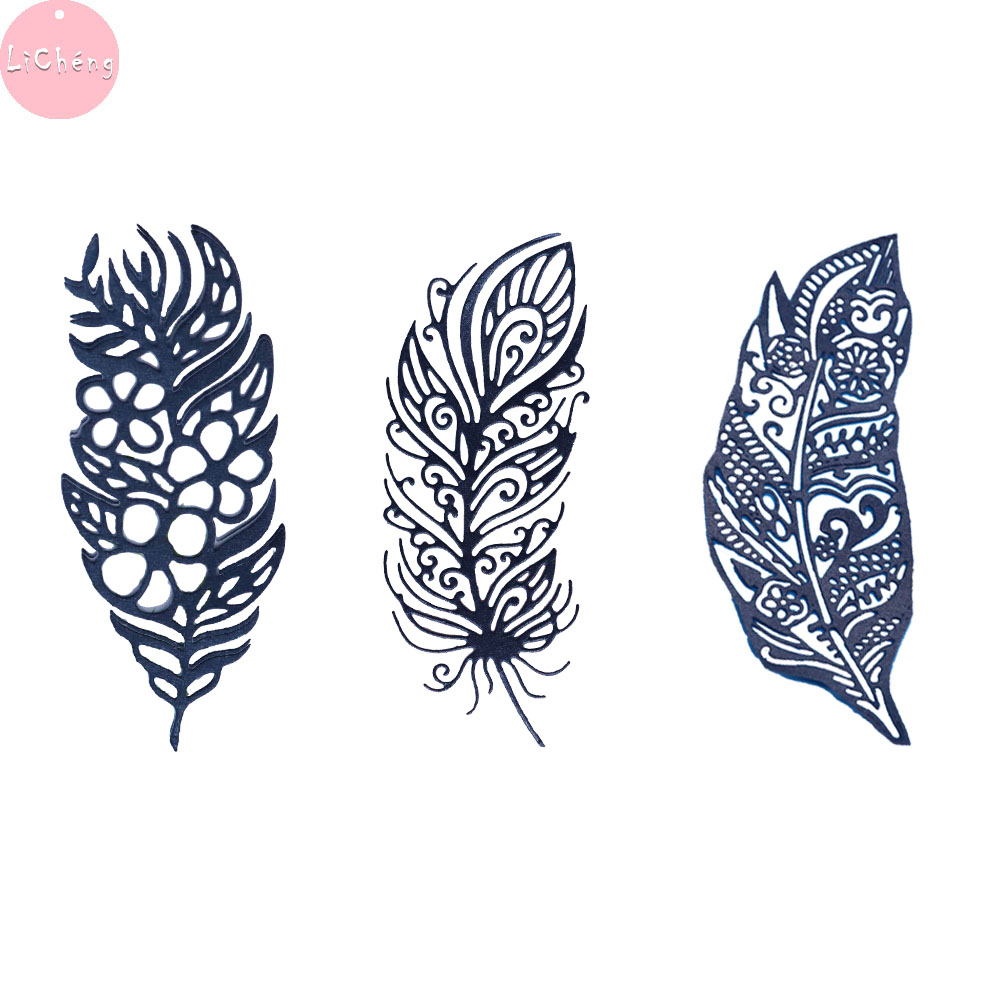 Scrapbooking Cutting Dies Diy Craft Mold Templates Stencil Crafts Feather Dies Scrapbooking Paper Embossing Card Making Tools