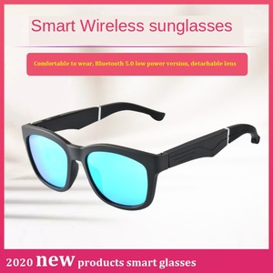 New products in 2020 can be matched with prescription lenses smart call bluetooth glasses semi-open sports music sunglasses
