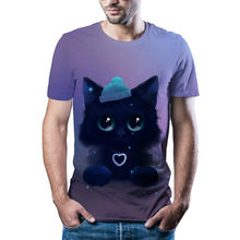 Men's Summer 3D Cat Print, Fashionable T-shirt. New Short Sleeves for 2021