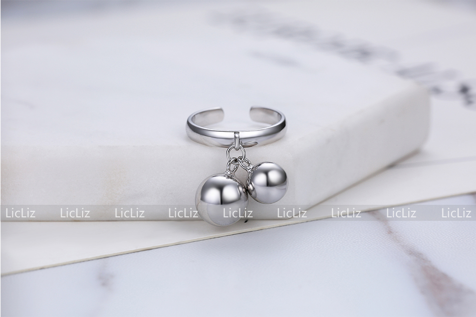H4ceedd1296194ba596adbbf877a91ce3B LicLiz 925 Sterling Silver Open Adjustable Cuff Rings for Women Round Circle Ring Jewelry Anillos Plata 925 Para Mujer LR0323