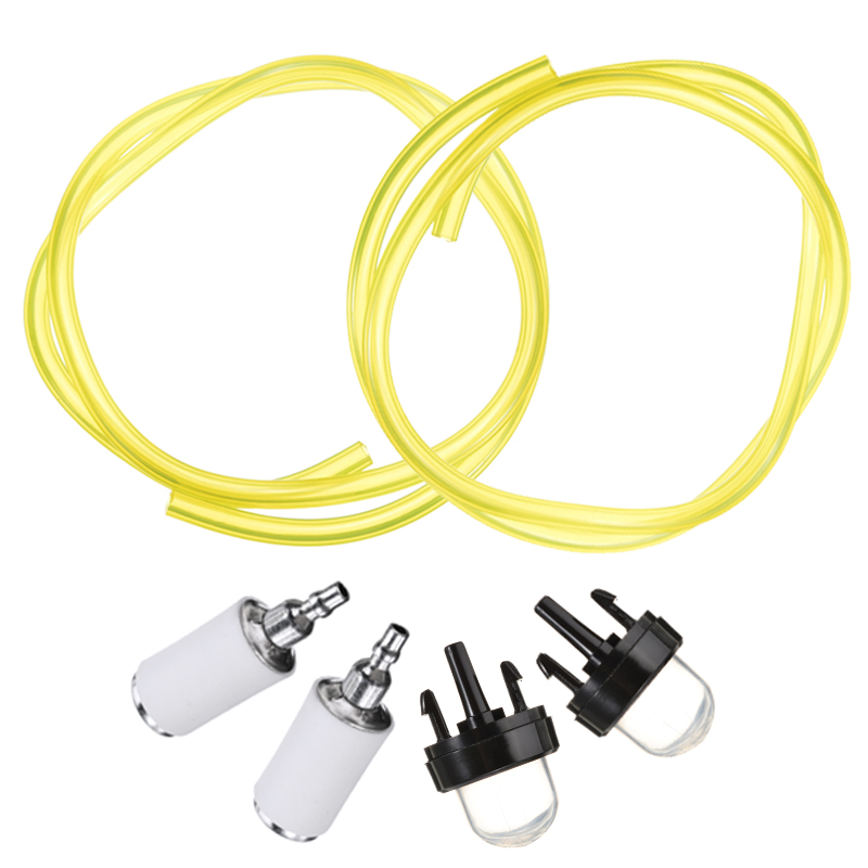 Fuel Line Hose Tube + Primer Bulb + Fuel Filter Tool Kits For String Trimmer Brush Cutter Lawn Mower Garden Tools Accessories