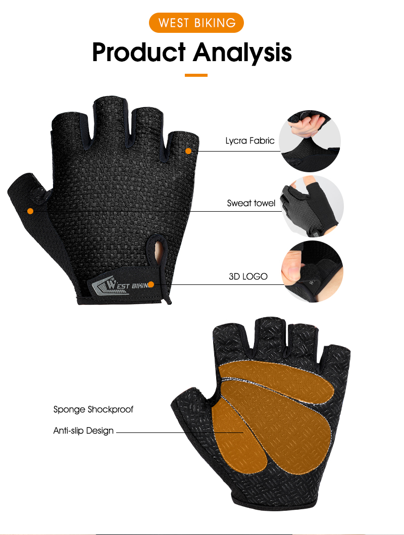 WEST BIKING Cycling Gloves Full Finger Touch Screen Anti Slip Bike Gloves Heiß