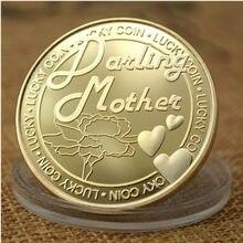 아버지와 어머니의 기념 동전 맞춤형 동전 999 실버 도금 금도금 기념 배지 금속 배지 컬렉션