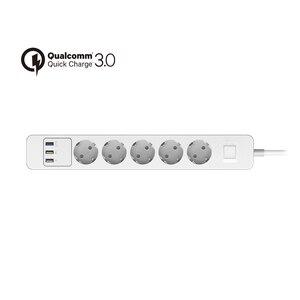 Image 3 - 전원 스트립 3/4/5 AC 콘센트 소켓 EU 플러그 서지 보호기 3 USB QC3.0 고속/급속/급속 충전기 및 1.5m 연장 케이블