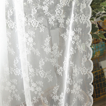 European White Sheer Curtains for Wedding Lace Drapes Serape Home Decor Curtains Living Room Bedroom Window Tulle  Curtain princess style 100% cotton curtains elegant white lace curtains sheer tulles for girl s room window door sheet screen home decor