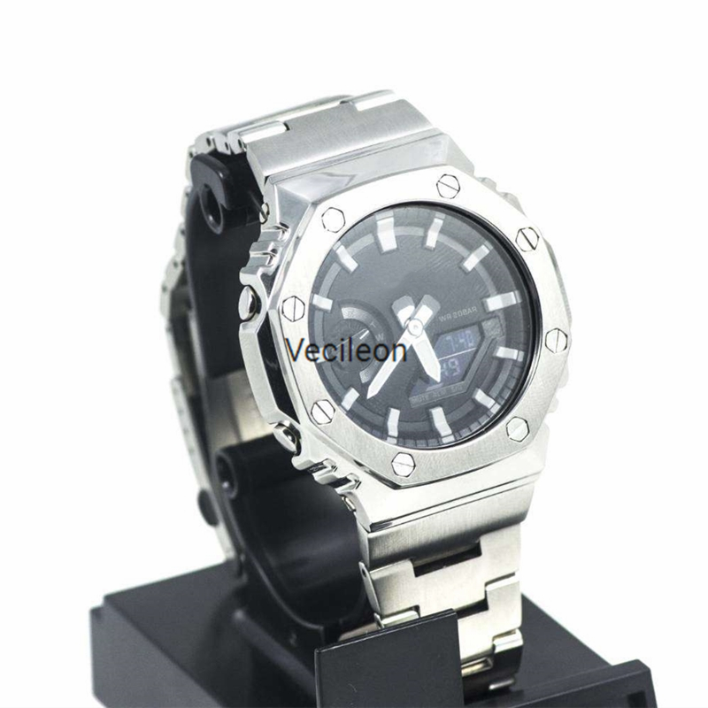 Watchband Bezel/Case For GA-2100 316L Stainless Steel Metal Strap Steel Belt With Tools For Man/Women Holiday Gift
