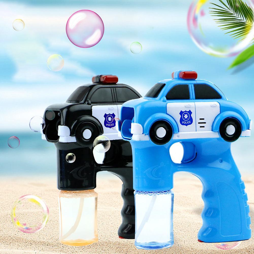New Kids Automatic Car Music Light Magic Bubble Machine Summer Swimming Toys Wedding Supplies Birthday Gift Bubble Toy Maker Gun