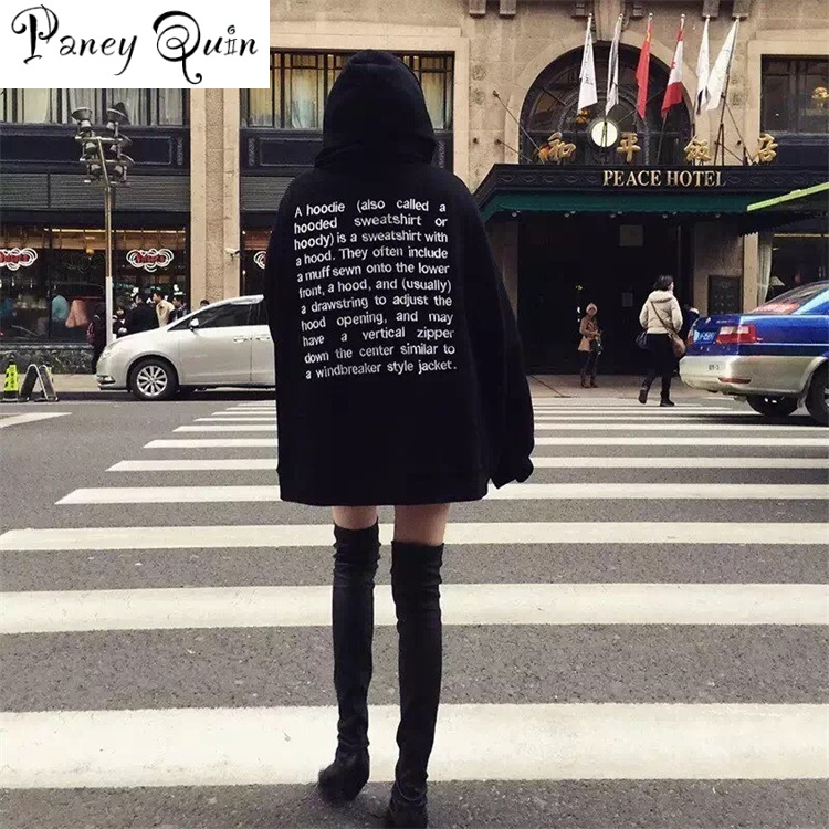 Autumn Long B-F Style Hoodies Letter Couple Hoodie Streetwear Oversized Womens Hoodies Off The Shoulder Harajuku Hoodie Girrls