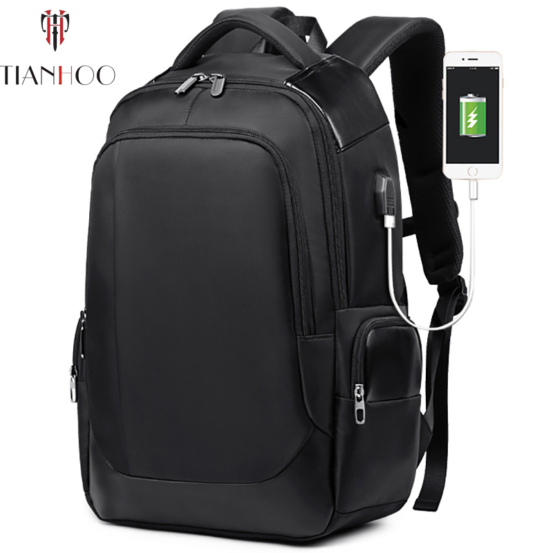 TIANHOO High Quality Casual Oxford USB Charging Men Backpack Male Waterproof Laptop Men Travel Anti Theft Backpacks