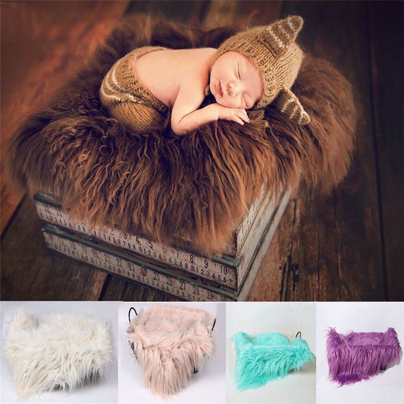 Newborn Photography Props Blanket Faux Fur Photography Prop Blanket Photo Backdrop  Accessories Photo Studio