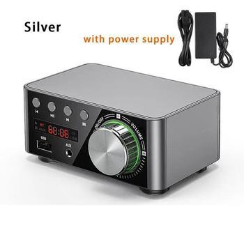 Douk Audio Mini TPA3116 wzmacniacz mocy Bluetooth 5 0 odbiornik Stereo domowy samochodowy sprzęt Audio Amp USB u-disk odtwarzacz muzyczny tanie i dobre opinie LanLan electronic Power Amplifier
