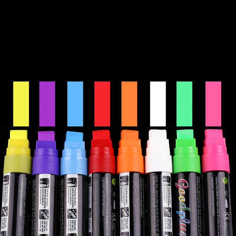 قلم مضيء خاص قلم مضيء 15 مللي متر طبق من الزجاج مضيئة السبورة قدرة كبيرة قلم تحديد أقلام التظليل Aliexpress