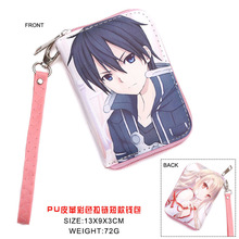 Anime Sword Art Online Kirito PU Short Wallet Yuki Asuna Coin Purse